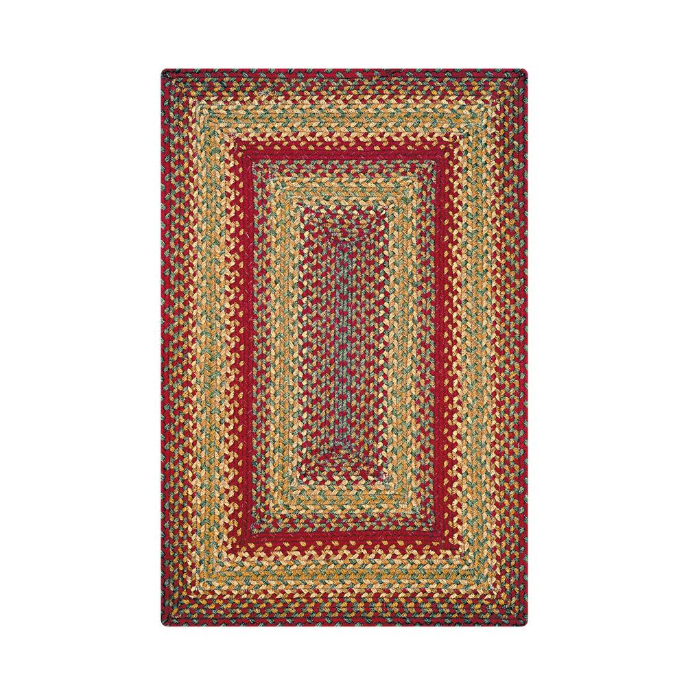 Homespice Décor Cider Barn   20 In. X 30 In. Rectangular Jute Braided Rug in Red